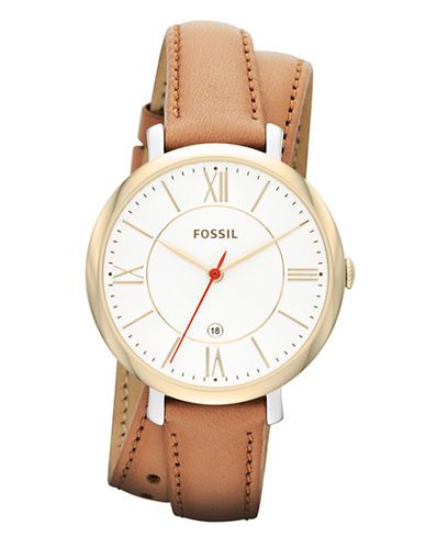 Jewellery & Accessories | Women's Watches | Jacqueline Three Hand Date Leather Watch Tan | Hudson's Bay