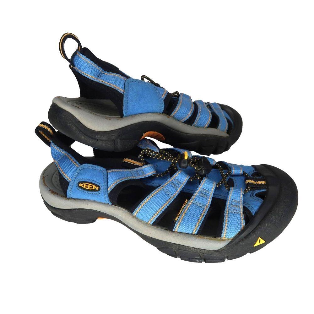 20451178d397 Keen Newport H2 Waterproof Sandals Womens Size 8 Blue Hiking Anti Odor Non  Mark  KEEN  HikingSandals  Outdoors