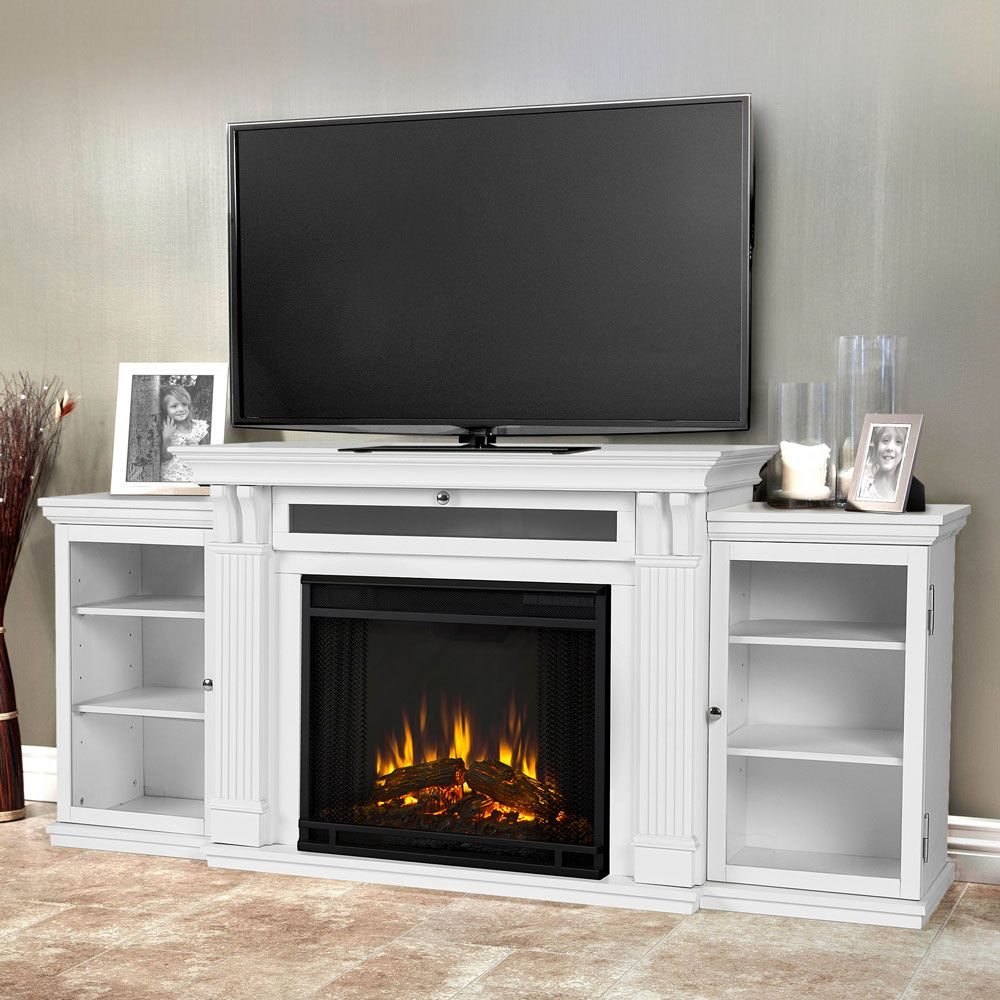 Real Flame Calie Electric Tv Media Fireplace Dark Walnut