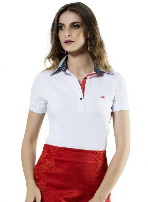 795667f50becb camisa polo branca feminina principessa ticiana