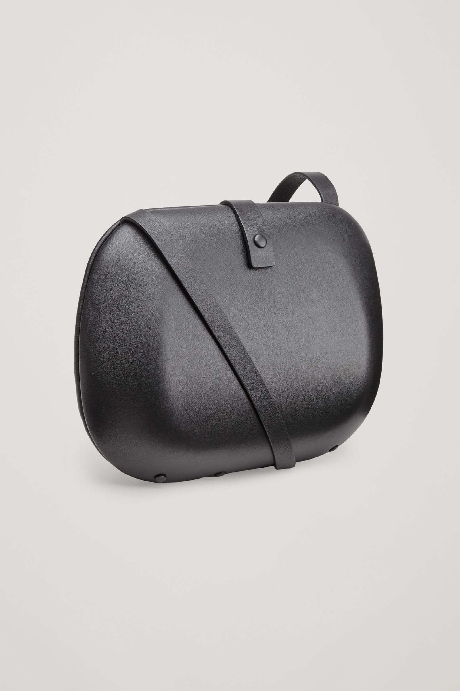 565bcaed7d COS image 3 of Hard case leather bag in Black