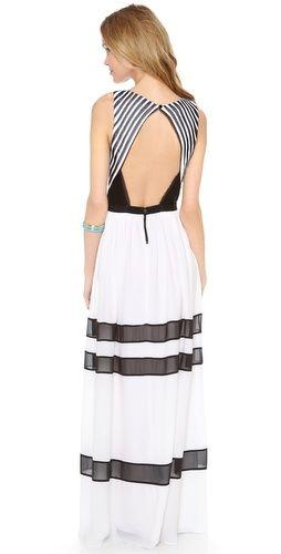 Alice Olivia Rae Pleated Long Dress Bop