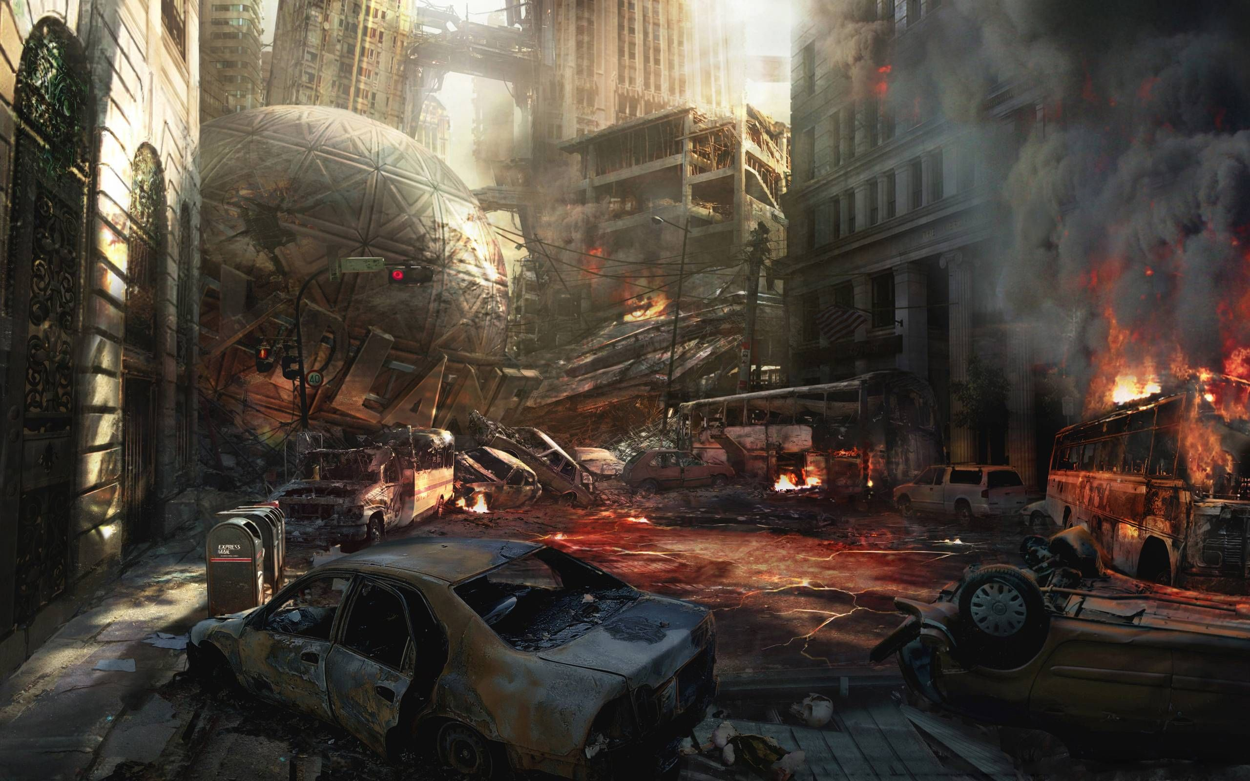 Destroyed City Backgrounds City Background Background Pictures Anime City