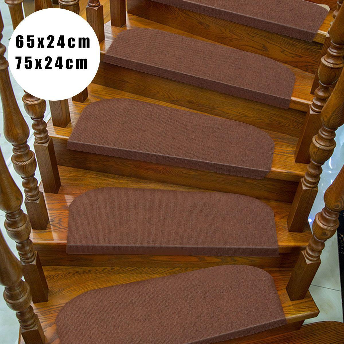 Best Kiwarm 1Pcs Brown Non Slip Carpet Stair Treads Mats 400 x 300