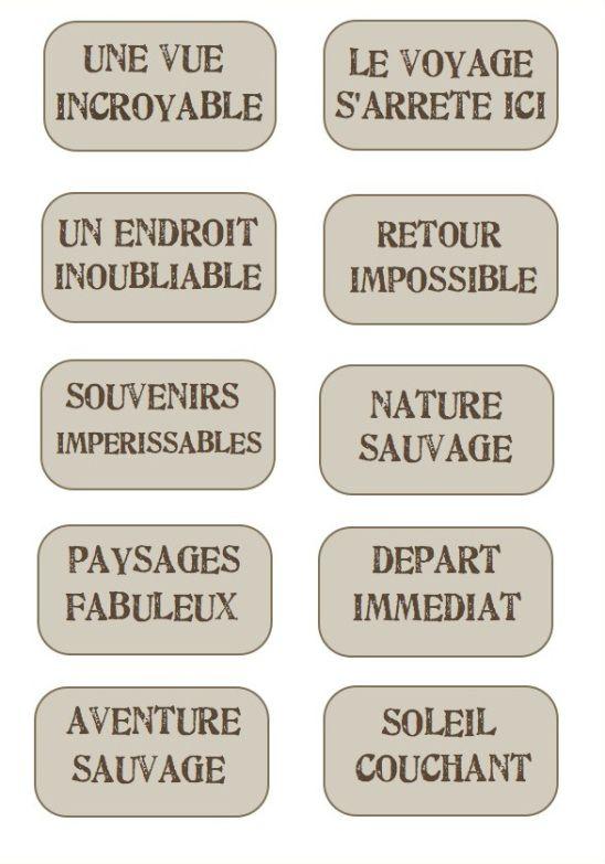 Extrêmement étiquettes voyage ovales | Etiquettes | Pinterest | Carnets  WA16