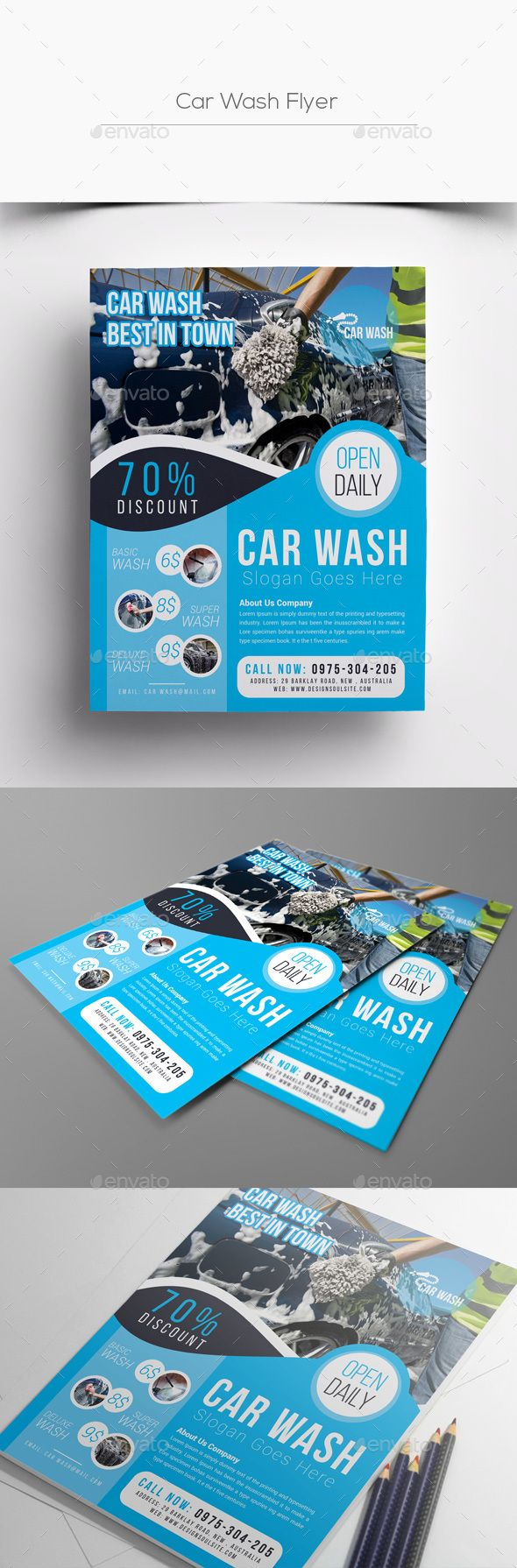 Car Wash Flyer Templates Corporate Flyers Auto Graphic Design