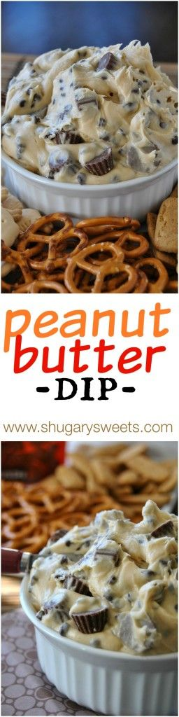 Reese's Peanut Butter Cookie Dough Dip - Shugary Sweets