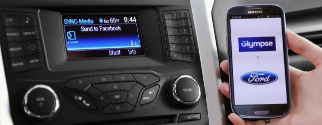 Glympse Comes To Car Dashboards With Ford Sync Applink Integration