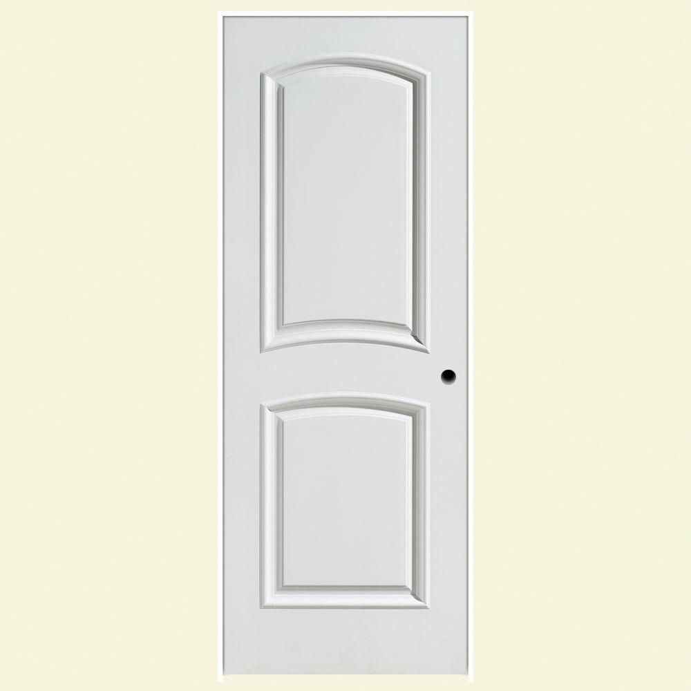 Palazzo bellagio smooth panel arch top solid core primed composite single prehung interior door white masoniteinteriordoors also masonite in  rh pinterest