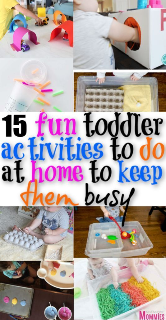 Super fun toddler activities to do at home to keep them busy