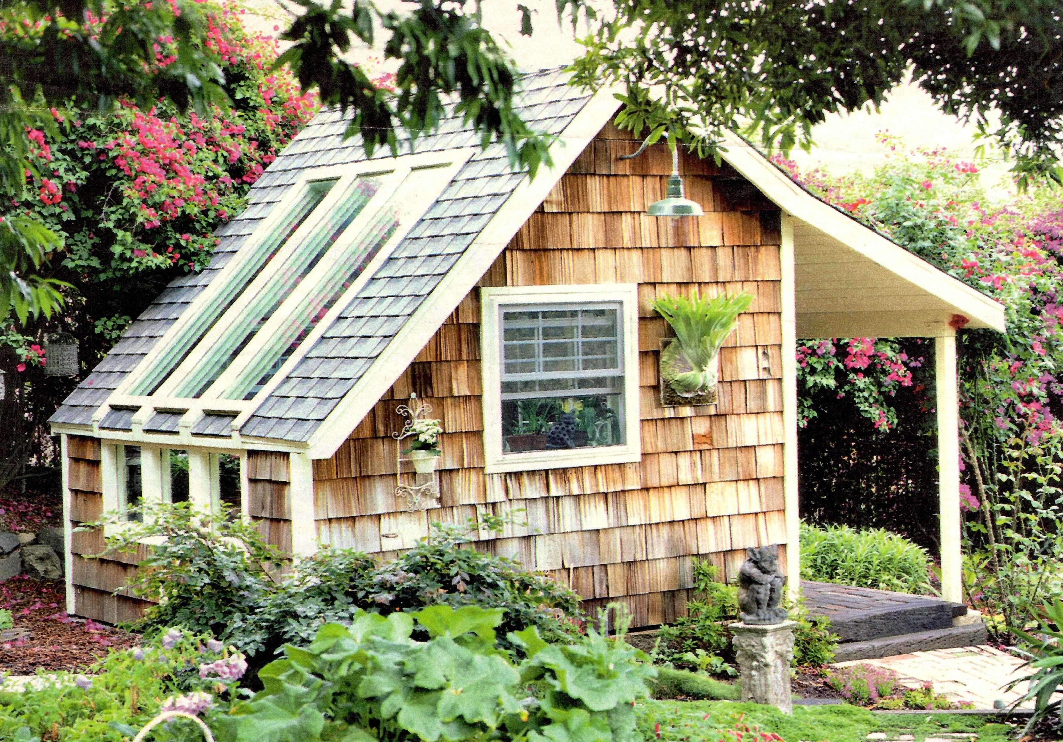 Garden Shed Cedar Shingle Facade Skylights Huis