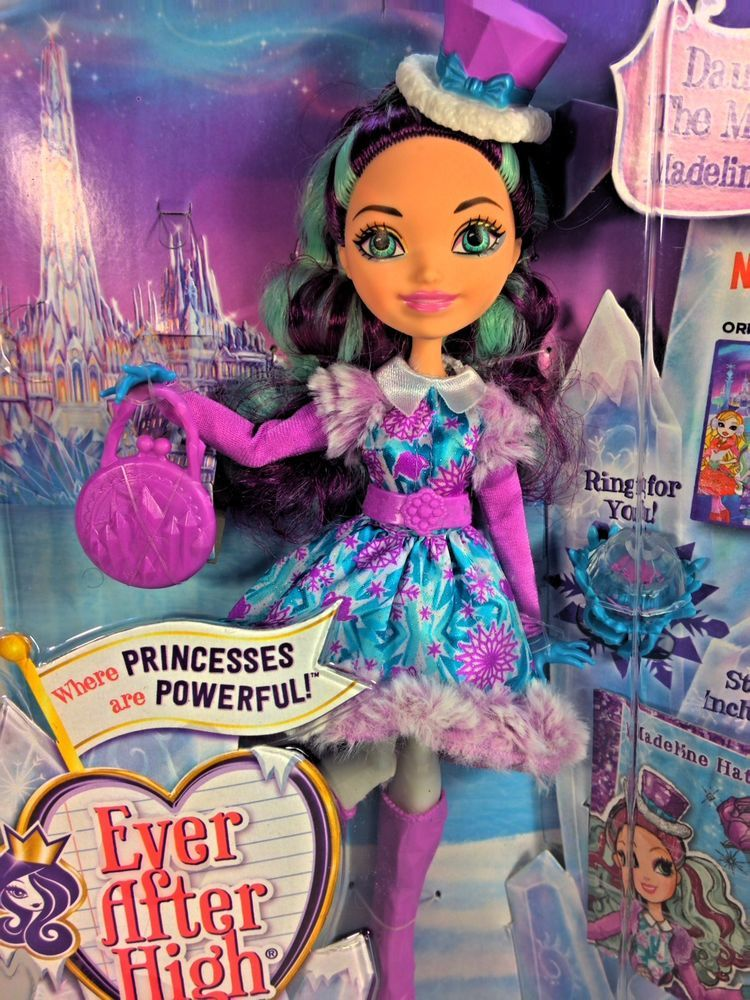ever after high epic winter madeline hatter doll daughter of the mad