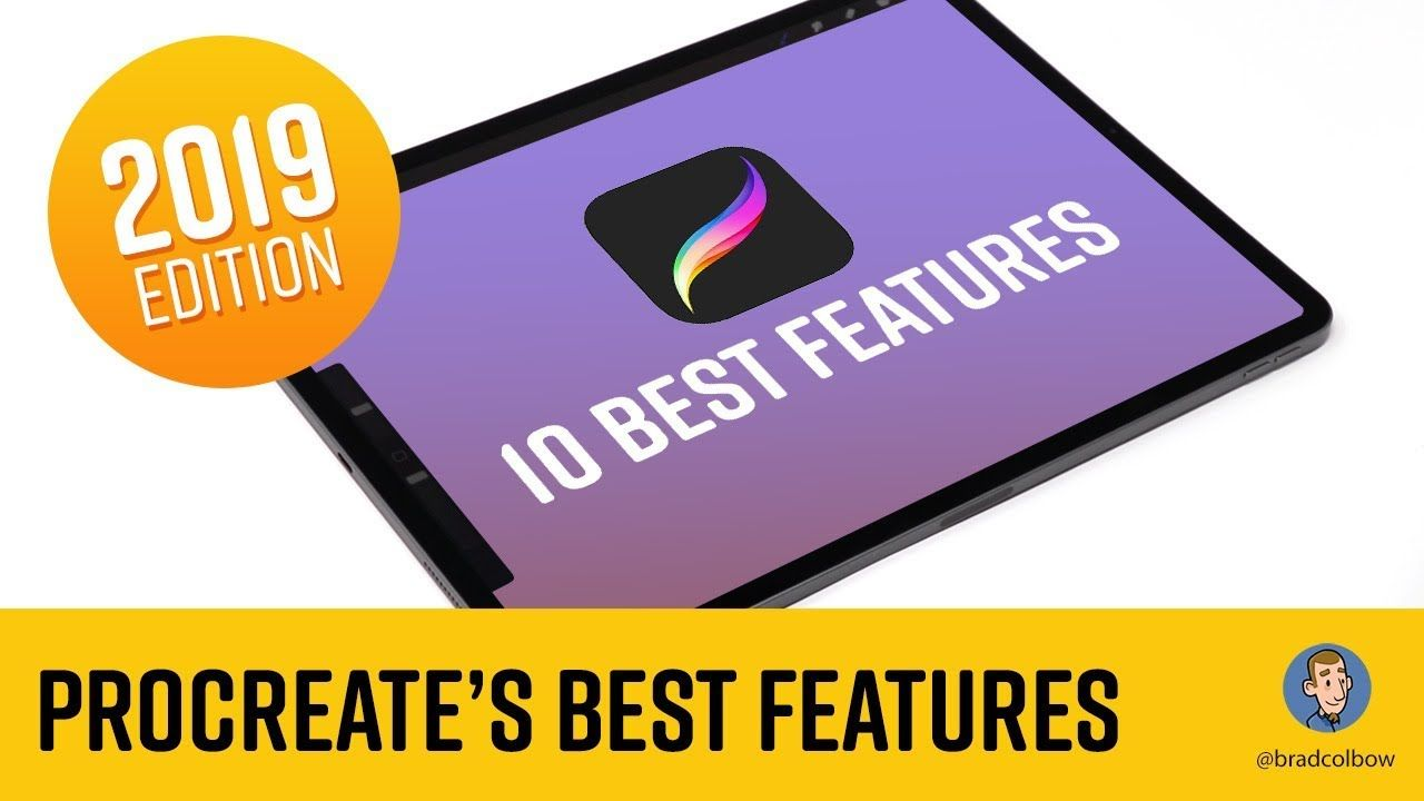 Procreate S 10 Best Features 2019 Draw Lines And Shapes Paint Bucket Tool Gradients And More Youtube