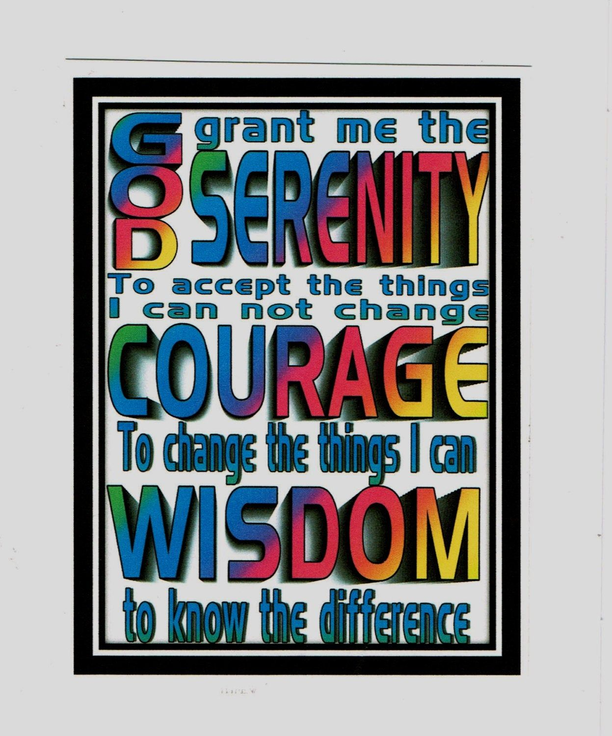 Rainbow Serenity Prayer Greeting Card With Images