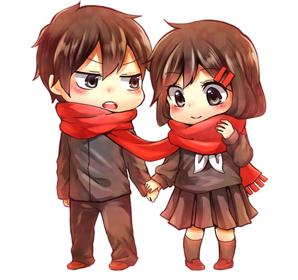 Image result for chibi anime couple Chibi, Casal anime