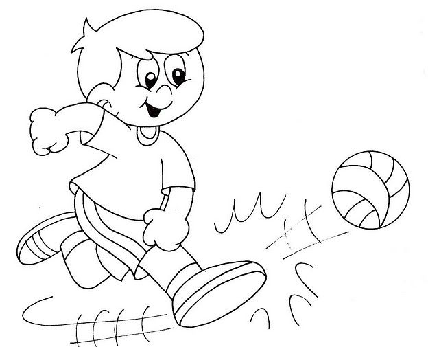physical activities coloring pages - photo#16