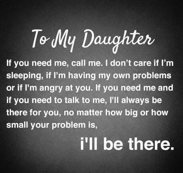 I will be there | Daughter | Daughter quotes, Mothers day ...