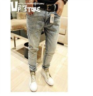 2012 slim water wash jeans denim trousers men's trend trousers 3117 on AliExpress.com. 5% off $26.62