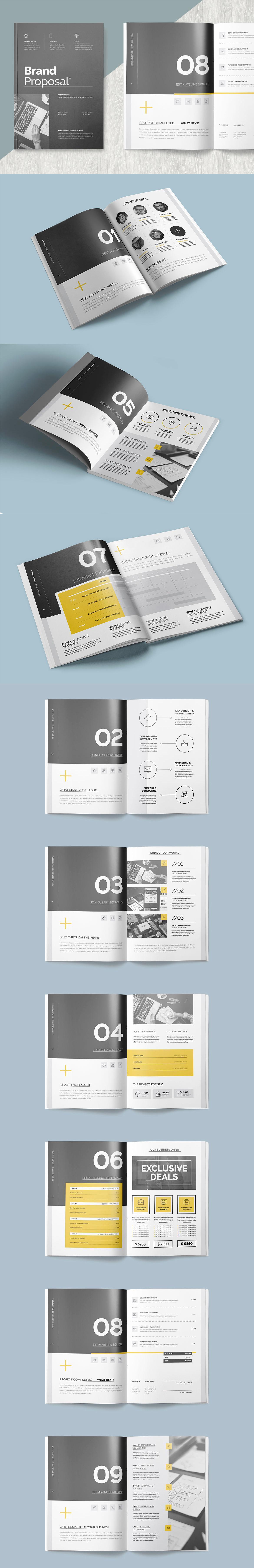 Clean and Professional Proposal 20 Pages Template InDesign INDD ...