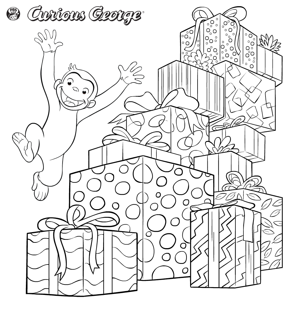curious george printables pbs kids - Curious George Coloring Book In Bulk