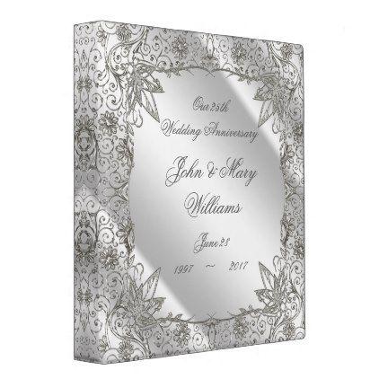 Flourish Silver 25th Wedding Anniversary 1\