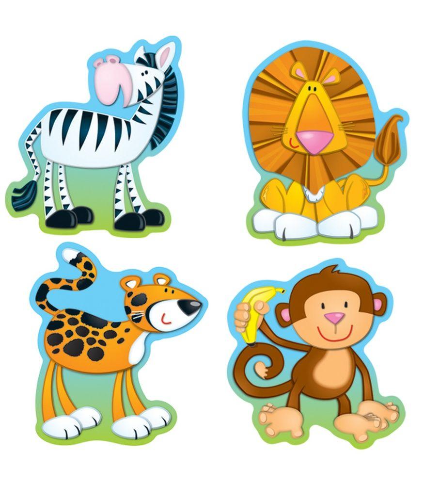jungle animals cut outs carson dellosa publishing education