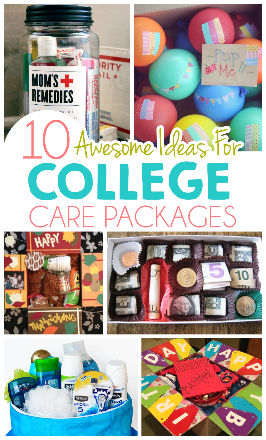 10 Ideas For College Care Packages College Gifts College