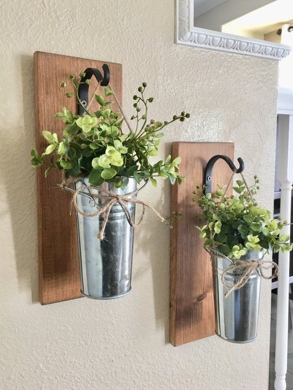 Home Decor,Hanging Planter with Greenery or Flowers ... on Wall Sconces For Greenery Decoration id=78229