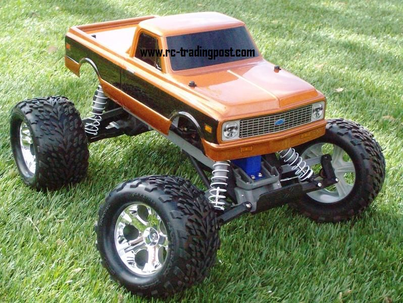 Cheap Gas Rc Car 1972-chevy-c10-traxxas-stampede-xl-5-1-10th-30-mph-electric-rc-monster ...
