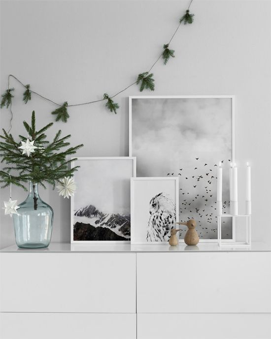 Deck the Walls with Scandinavian Art Stylish, Interiors and Xmas