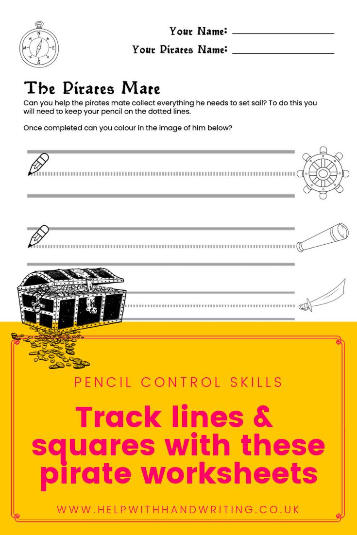 Pirate Drawing Lines Worksheets Kids Handwriting Practice Prewriting Skills Handwriting Activities [ 1102 x 735 Pixel ]