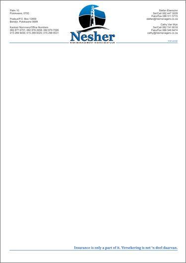 business letterhead business template