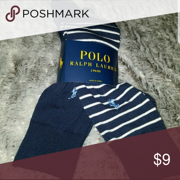 Nwt polo ralph lauren socks 2 dress mens New with tags 2 polo ralph lauren dress socks Mens 6-12.5 Blue tan with medium blue logo Blue with.medium blue logo Polo by Ralph Lauren Underwear & Socks Dress Socks