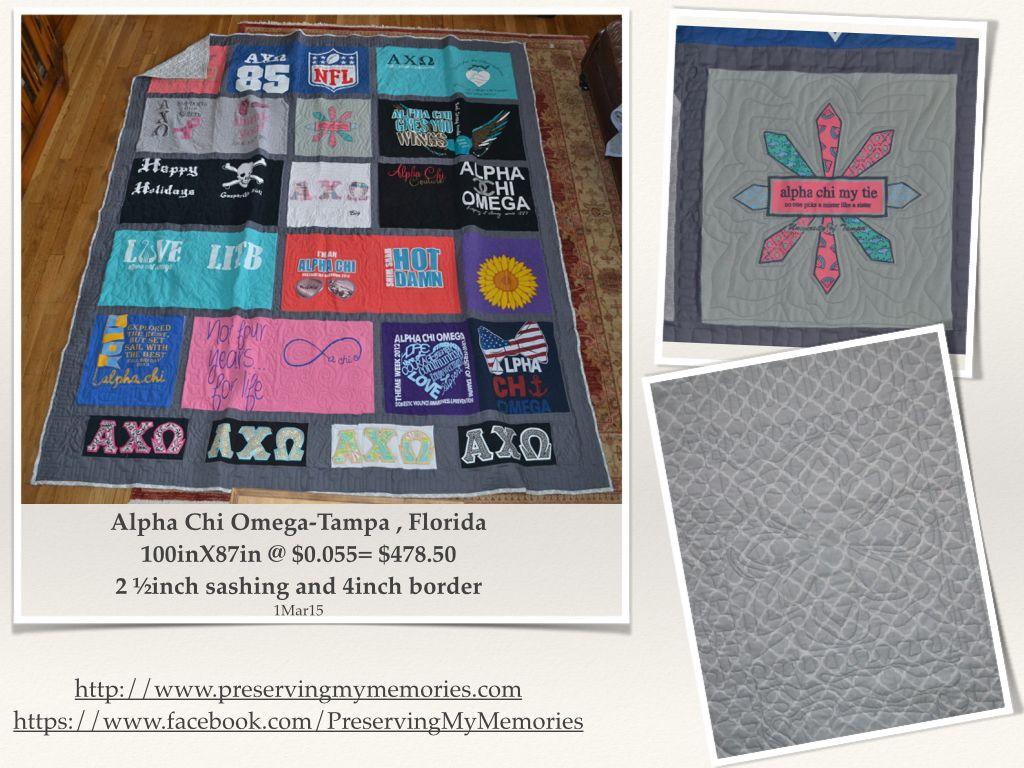 Shirt design tampa - Alpha Chi Omega T Shirt Quilt Tampa Fl University Of South Florida Https