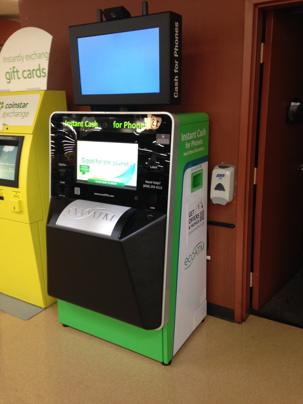This ecoATM kiosk can be found at the Giant Eagle on W 117th Street