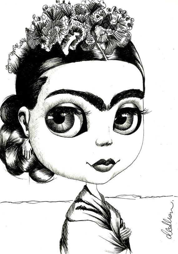 Frida Kahlo Art Coloring Page Famous Art Coloring Coloring