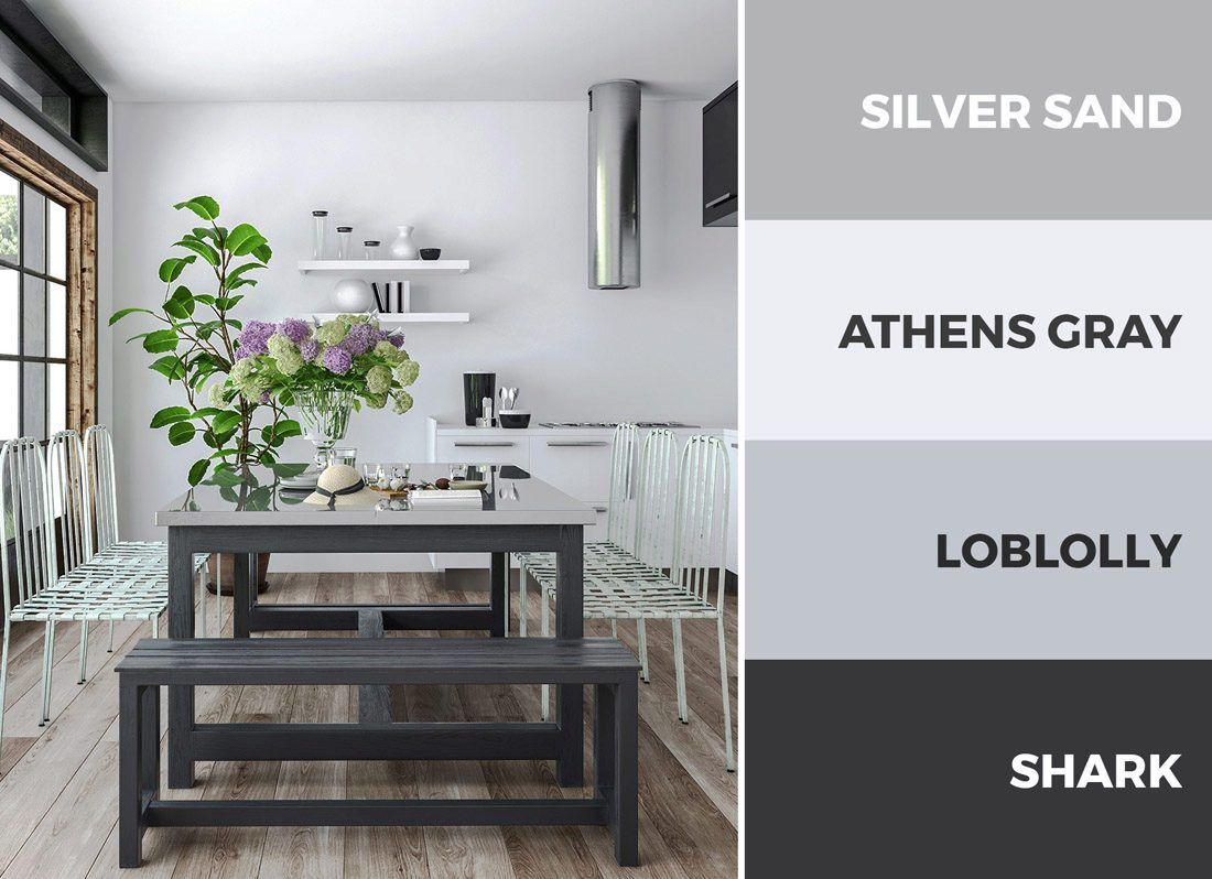 An All Gray Kitchen Color Scheme Creates A Cool And Balanced Kitchen Aesthetic Read On To Discover Ov Grey Kitchen Colors Kitchen Colour Schemes Kitchen Color