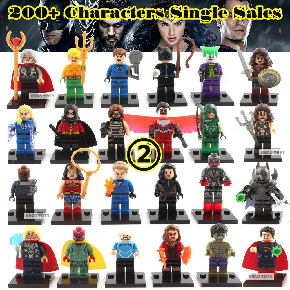 Kaygoo Einzigen Verkauf Einzeln Verkauf Marvel Avengers Iron Man Batman Red Hood Cat Woman Vision Baustein-satz-modell Spielzeug