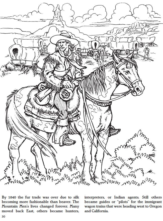 fur trade coloring pages - photo#7