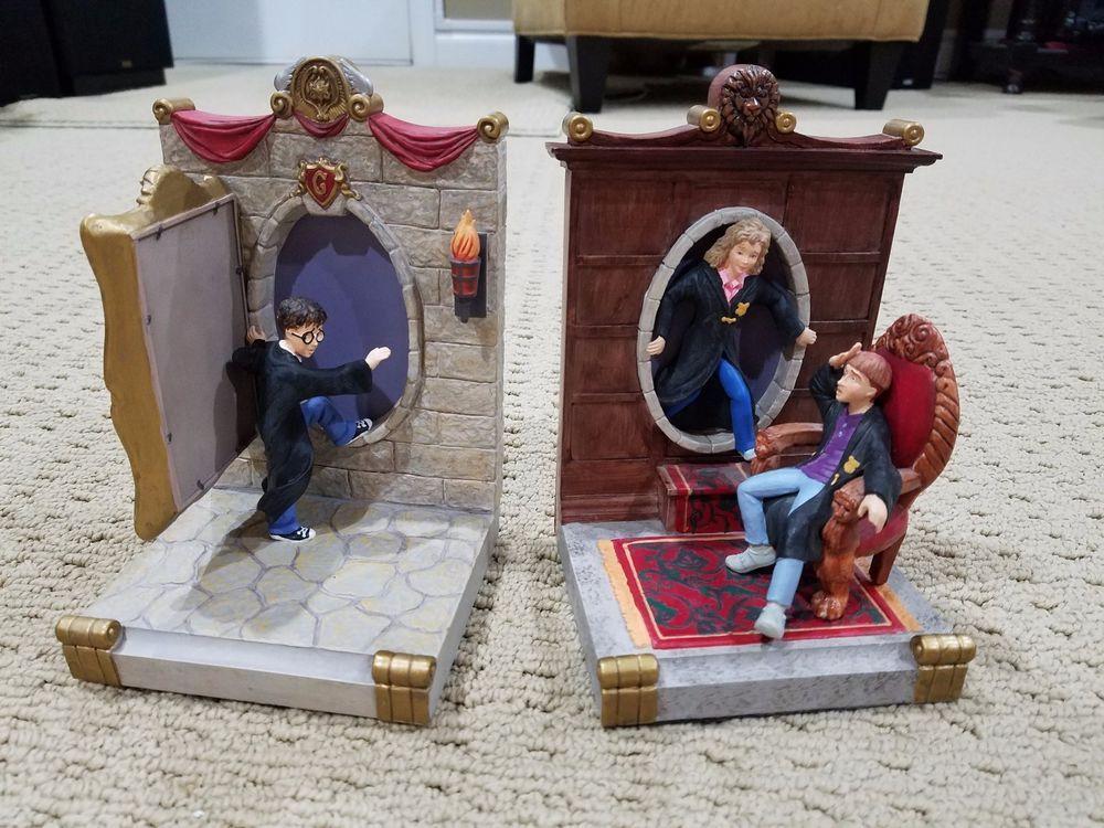 Harry Potter Bookends : Harry potter bookends set fat lady portrait door ron