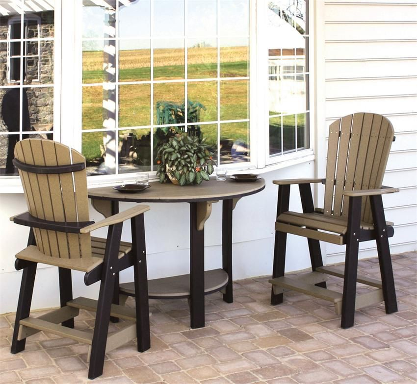 Amish Poly Furniture Pub Table Set  Pub Table Sets Patios And Best Dining Room Pub Table Sets Inspiration Design