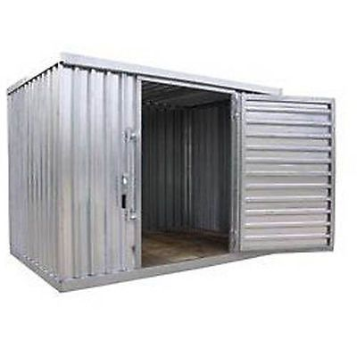 Industrial Storage Shed   Steel   Outdoor   9 Ft 2 W X 12 Ft 6