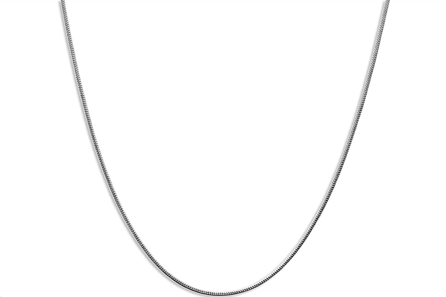 CloseoutWarehouse Rhodium Plated Sterling Silver Box Round Diamond Cut 030 Chain 1.5mm