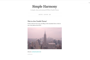 Simple Harmony 2.1 by michael-xander | Tumblr Themes | Pinterest ...