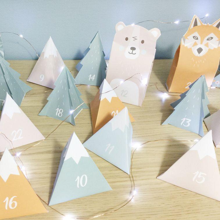 Printable / DIY: un calendrier de l'avent pour Noël - Carotte & Cie #calendrierdelaventfaitmaisonfacile