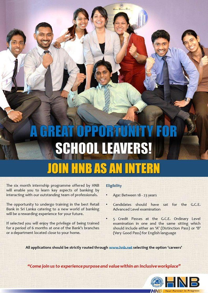 Internship at Hatton National Bank (HNB) | Career First