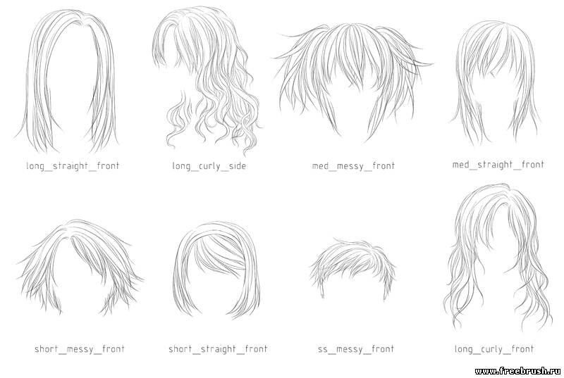 Pin By Eulse On Risovalko Photoshop Hair Manga Hair Anime Hair
