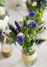 cornflowers and antique rose pink wedding bouquets - Google Search