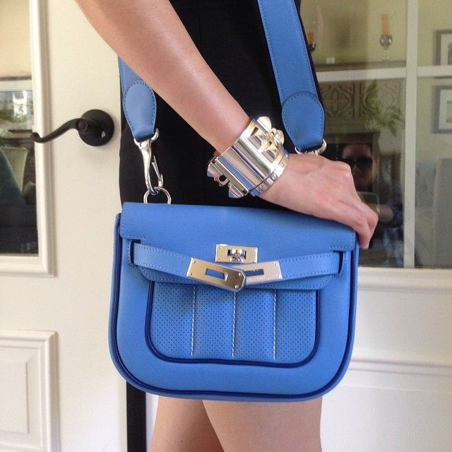 461dcf1f08b5 hermes mini berline bag in blue paradis