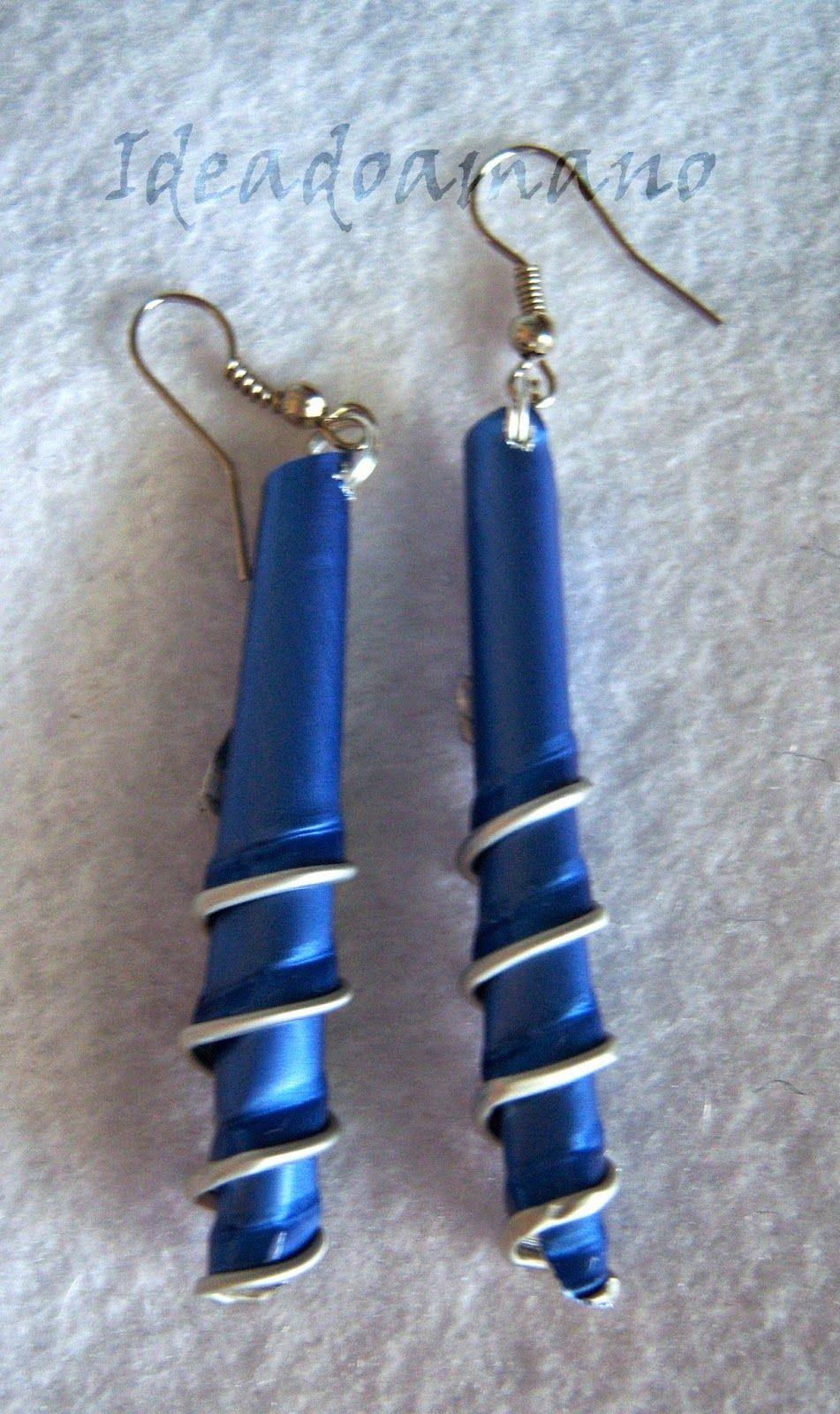 """Pendientes """"Simply twisted"""" en azul"""